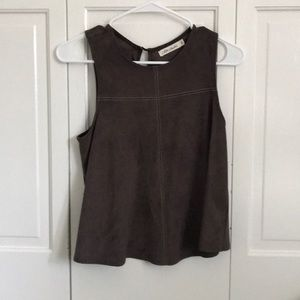 Cropped smoky brown color top